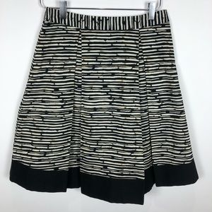 Vince Camuto Striped Pleated Skirt 4
